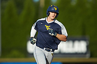Jackson Cramer (13) of the West Virginia Mountaineers rounds the bases after hitting a 2-run home run in the top of the first inning against the Wake Forest Demon Deacons in Game Four of the Winston-Salem Regional in the 2017 College World Series at David F. Couch Ballpark on June 3, 2017 in Winston-Salem, North Carolina. The Demon Deacons walked-off the Mountaineers 4-3. (Brian Westerholt/Four Seam Images)