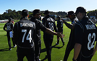Players enter the field at the start of the match.<br /> New Zealand Black Caps v England, ODI series, University Oval in Dunedin, New Zealand. Wednesday 7 March 2018. &copy; Copyright Photo: Andrew Cornaga / www.Photosport.nz