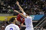 Fernandez & Karabatic. Montenegro vs France: 20-32 - Preliminary Round - Group A