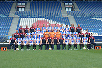 VOETBAL: HEERENVEEN: 17-07-2018, Abe Lenstra Stadion, SC Heerenveen Teampresentatie Pers, Achterste rij v.l.n.r. 