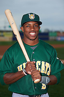 Lynchburg Hillcats center fielder Greg Allen (9) poses for a photo before a game against the Wilmington Blue Rocks on June 3, 2016 at Judy Johnson Field at Daniel S. Frawley Stadium in Wilmington, Delaware.  Lynchburg defeated Wilmington 16-11 in ten innings.  (Mike Janes/Four Seam Images)