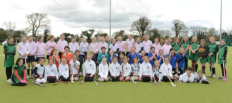 The teams who took part in the Leinster Hockey Association Festival hosted by Boyne Hockey Club at the Grammar School. Photo:Colin Bell/pressphotos.ie