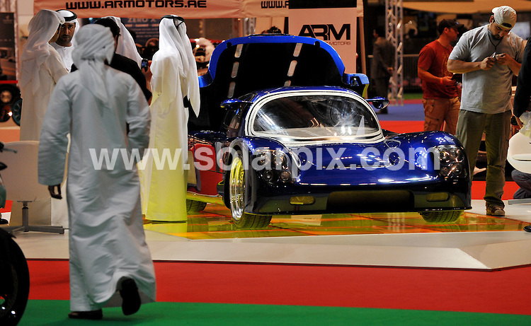 **ALL ROUND PICTURES FROM SOLARPIX.COM**.**WORLDWIDE SYNDICATION RIGHTS**.Emirati's look at The Maxximus G-Force, the world's fastest street legal car, according to the World Record Academy. The car, a one of a kind designed by Marlon Kirby of Maxximus Technologies is on display in Abu Dhabi where it is expected to be sold to an Emirati car enthusiast.. Dubai, UAE. 30 April 2009..This pic: The Maxximus G-Force..JOB REF: 8935 DBL     DATE: 30_04_2009.**MUST CREDIT SOLARPIX.COM OR DOUBLE FEE WILL BE CHARGED**.**ONLINE USAGE FEE GBP 50.00 PER PICTURE - NOTIFICATION OF USAGE TO PHOTO @ SOLARPIX.COM**.**CALL SOLARPIX : +34 952 811 768 or LOW RATE FROM UK 0844 617 7637**