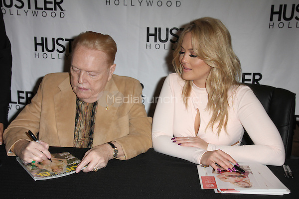 Larry Flynt and Alexis Texas at the opening Hustler Hollywood in Hollywood, California on April 9, 2016. Credit: David Edwards/MediaPunch