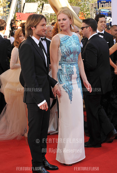 Nicole Kidman & Keith Urban at the 64th Primetime Emmy Awards at the Nokia Theatre LA Live..September 23, 2012  Los Angeles, CA.Picture: Paul Smith / Featureflash