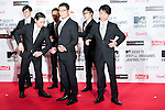 June 23, 2012, Chiba, Japan - Members of WORLD ORDER pose on the red carpet during the MTV Video Music Awards Japan event. (Photo by Christopher Jue/AFLO)