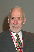 March 20 2003, Montreal, Quebec, Canada<br /> <br /> David Anderson, Canada's Environment Minister  at  the Opening plenary Session of Americana, a 3 days <br /> conference & trade show on environement and waste management organized by Reseau Environnement, March 20 2003 in Montreal, Canada.<br /> <br /> Photo :   Pierre Roussel / AGENCE QUEBEC PRESSE