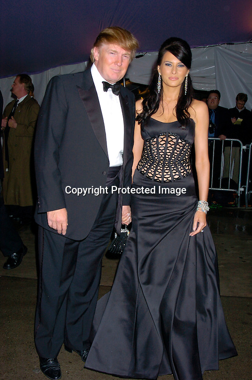 Donald Trump and Melania Knauss ..at The Costume Institute Gala of the Metropolitan Museum of Art on April 26, 2004 ...Photo by Robin Platzer, Twin Images