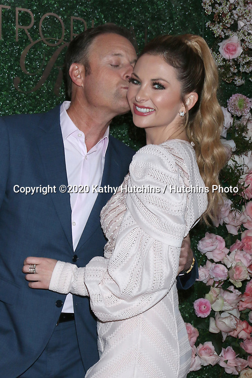 LOS ANGELES - MAR 11:  Chris Harrison and Lauren Zima at the Seagram's Escapes Tropical Rose Launch Party at the hClub on March 11, 2020 in Los Angeles, CA