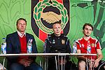 V&auml;llingby 2014-03-30 Fotboll Allsvenskan IF Brommapojkarna - Kalmar FF :  <br /> Kalmars tr&auml;nare Hans Hasse Eklund och Brommapojkarnas tr&auml;nare Stefan Billborn p&aring; presskonferensen efter matchen<br /> (Foto: Kenta J&ouml;nsson) Nyckelord:  BP Brommapojkarna Grimsta Kalmar KFF tr&auml;nare manager coach presskonferens press
