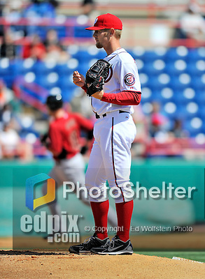 4 March 2012: Washington Nationals pitcher Stephen Strasburg gives up a solo home run to Astros' Chris Snyder in the third inning to tie the score at 1 during a Spring Training game against the Houston Astros at Space Coast Stadium in Viera, Florida. Strasburg allowed two runs on three hits, striking out three in 2 2/3 innings as the Astros defeated the Nationals 10-2 in Grapefruit League action. Mandatory Credit: Ed Wolfstein Photo