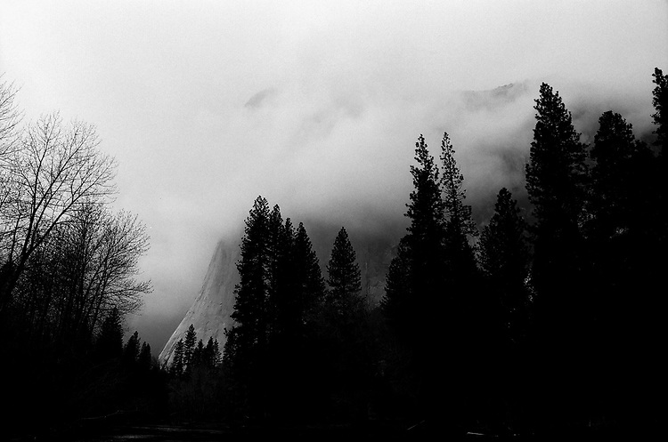 El Capitan in the Clouds, Yosemite 2017, Ilford Delta Film