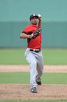 Boston Red Sox pitcher Williams Jerez (28) during an Instructional League game against the Minnesota Twins on September 26, 2014 at jetBlue Park at Fenway South in Fort Myers, Florida.  (Mike Janes/Four Seam Images)
