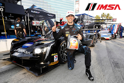 2017 IMSA WeatherTech SportsCar Championship<br /> BUBBA burger Sports Car Grand Prix at Long Beach<br /> Streets of Long Beach, CA USA<br /> Friday 7 April 2017<br /> 10, Cadillac DPi, P, Ricky Taylor, wins the Total Pole Award<br /> World Copyright: Michael L. Levitt<br /> LAT Images