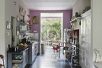 The garden which was previously a backdrop and rarely entered is now integrated into the kitchen