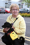 "Bridie Clarke with Max  supporting Dogs Trust at ""National Dog Walking Day"" at Petmania...(Photo credit should read Jenny Matthews www.newsfile.ie)....This Picture has been sent you under the conditions enclosed by:.Newsfile Ltd..The Studio,.Millmount Abbey,.Drogheda,.Co Meath..Ireland..Tel: +353(0)41-9871240.Fax: +353(0)41-9871260.GSM: +353(0)86-2500958.email: pictures@newsfile.ie.www.newsfile.ie."