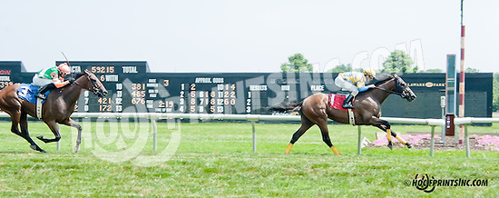 Broad Moon winning and at Delaware Park on 7/20/13