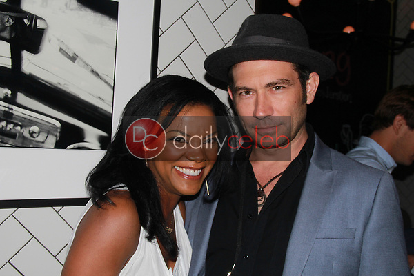 """Nadège August, Brent Harvey<br /> at the """"Struggleing"""" For Your Consideration event hosted by A. Whole Productions and Brent Harvey Films, Crossroads Kitchen, Los Angeles, CA 06-06-18<br /> David Edwards/DailyCeleb.com 818-249-4998"""