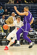 Washington, DC - December 22, 2018: Richmond Spiders guard Andre Gustavson (22) is being guarded by High Point Panthers guard Curtis Holland III (5) during the DC Hoops Fest between High Point and Richmond at  Entertainment and Sports Arena in Washington, DC.   (Photo by Elliott Brown/Media Images International)