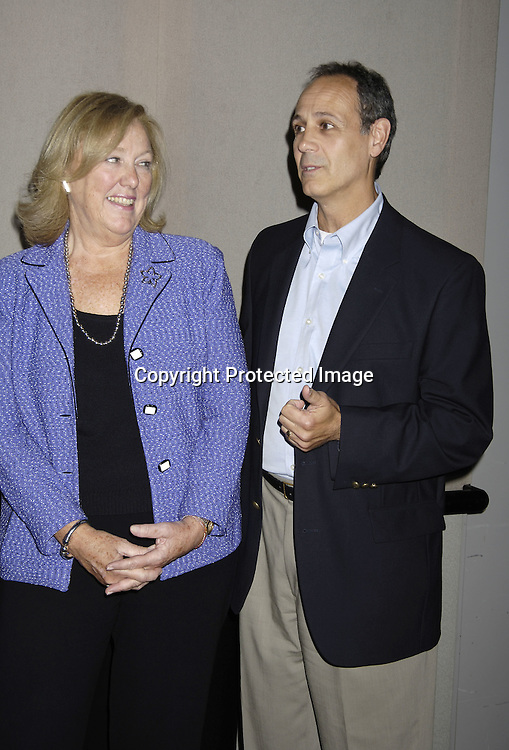 Mary Alice Dwyer-Dobbin and Pat Gentile, of P and G, ..who is the North American TV Programming Manager ..at at reception in honor of Mary Alice Dwyer-Dobbin on her ..leaving P and G on September 29, 2005 at the offices of ..P and G. ..Photo by Robin Platzer, Twin Images