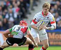 Aviva Premiership.Twickenham, England. David Strettle of Saracens in action during the Aviva Premiership match between Harlequins and Saracens at Twickenham Stoop on September 30. 2012 in Twickenham, England.