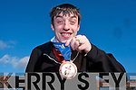 Brendan O'Sullivan from Rathduane, Rathmore returned home from the Special Olympics winter games with a bronze medal in Floorball.