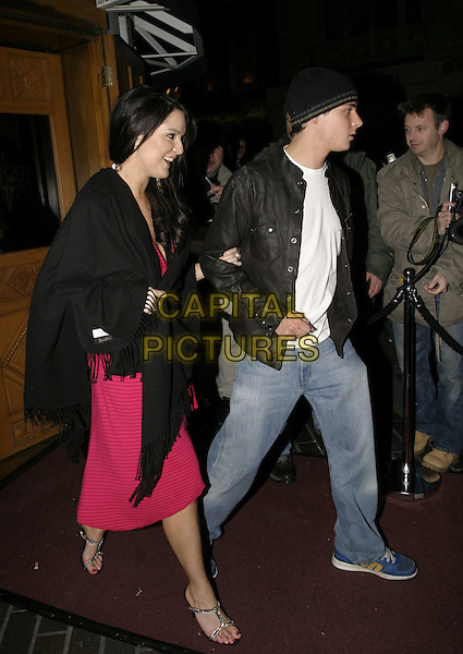 LARA McALLEN & CHRIS PARKER.Brit Awards 2005 - Isis Aftershpw Party, London, February 9th 2005..full length.Ref: AH.www.capitalpictures.com.sales@capitalpictures.com.©Capital Pictures.