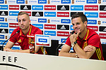 Spainsh Gerard Deulofeu and Cesar Azpilicueta during press conference at city of football of Las Rozas in Madrid, June 04, 2017. Spain.<br /> (ALTERPHOTOS/BorjaB.Hojas)
