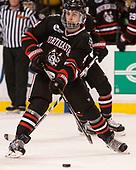 Jeremy Davies (NU - 4) - The Harvard University Crimson defeated the Northeastern University Huskies 4-3 in the opening game of the 2017 Beanpot on Monday, February 6, 2017, at TD Garden in Boston, Massachusetts.