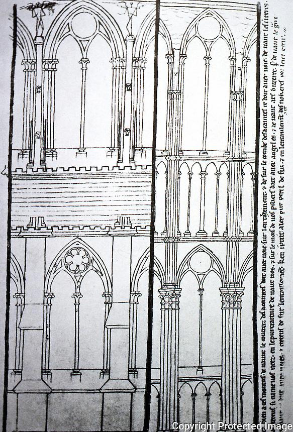 Visual Arts:  Villard De Honnecourt, Plate 46.  THE SKETCHBOOK OF VILLARD DE HONNECOURT.