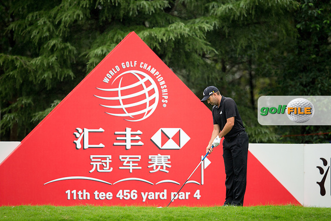 Sergio Garcia (ESP) on the 11th during round 1 of the WGC-HSBC Champions, Sheshan International GC, Shanghai, China PR.  27/10/2016<br /> Picture: Golffile | Fran Caffrey<br /> <br /> <br /> All photo usage must carry mandatory copyright credit (&copy; Golffile | Fran Caffrey)