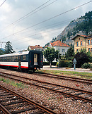 FRANCE, Fleurier, train station in the town of Fleurier