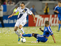 CARSON, CA - August 31, 2013: Los Angeles Galaxy forward Landon Donovan (10) during the LA Galaxy vs San Jose Earthquakes match at the StubHub Center in Carson, California. Final score, LA Galaxy 3, San Jose Earthquakes  0.