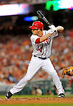 18 May 2012: Washington Nationals outfielder Bryce Harper in action against the Baltimore Orioles at Nationals Park in Washington, DC. The Orioles defeated the Nationals 2-1 in the first game of their 3-game series. Mandatory Credit: Ed Wolfstein Photo