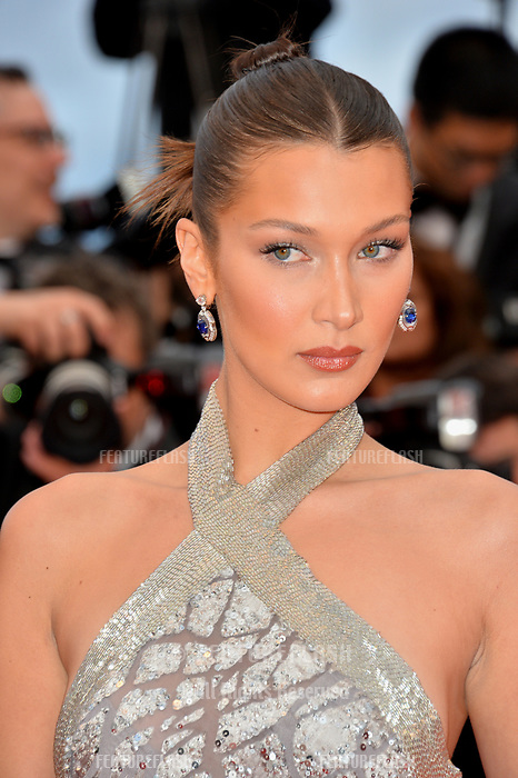 Bella Hadid at the gala screening for &quot;BLACKKKLANSMAN&quot; at the 71st Festival de Cannes, Cannes, France 14 May 2018<br /> Picture: Paul Smith/Featureflash/SilverHub 0208 004 5359 sales@silverhubmedia.com
