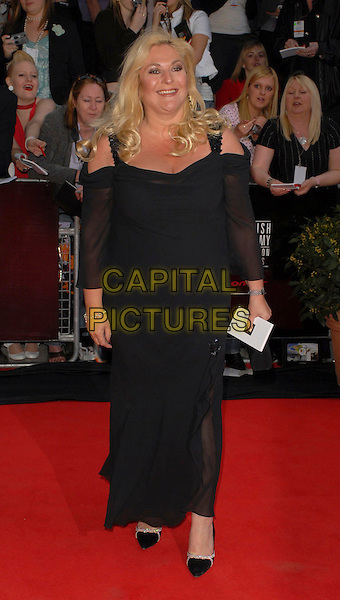 VANESSA FELTZ.Arrivals at the British Academy Television Awards, (BAFTA's) held at Grosvenor House Hotel, London, UK..May 7th 2006.Ref: CAN.bafta baftas full length black dress .www.capitalpictures.com.sales@capitalpictures.com.©Capital Pictures