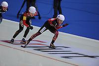 SCHAATSEN: ERFURT: Gunda Niemann Stirnemann Eishalle, 22-03-2015, ISU World Cup Final 2014/2015, Mass Start Ladies, Claudia Pechstein (#4 | GER), ©foto Martin de Jong