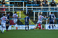 1st February 2020; Cappielow Park, Greenock, Inverclyde, Scotland; Scottish Championship Football, Greenock Morton versus Dundee Football Club; Jim McAlister of Greenock Morton scores an equaliser to level the score at 1-1 in the 20th minute