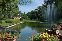 Germany, Baden-Wuerttemberg, Markgraefler Land, Bad Bellingen, park
