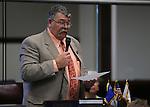 Nevada Sen. Pete Goicoechea, R-Eureka, speaks on the Senate floor at the Nevada Legislature in Carson City, Nev., on Monday, March 4, 2013..Photo by Cathleen Allison