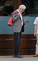 www.acepixs.com<br /> <br /> August 5 2017, New York City<br /> <br /> Actor Ted Danson leaves a downtown hotel on August 5 2017 in New York City<br /> <br /> By Line: Curtis Means/ACE Pictures<br /> <br /> <br /> ACE Pictures Inc<br /> Tel: 6467670430<br /> Email: info@acepixs.com<br /> www.acepixs.com