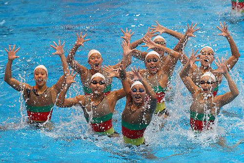 Japan National team group, .MARCH 25, 2012 - Synchronised Swimming : .Training of Synchronised Swimming Japan National Team .at JISS, Tokyo, Japan. .(Photo by YUTAKA/AFLO SPORT) [1040]