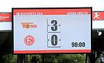 27.06.2020, Stadion an der Wuhlheide, Berlin, GER, DFL, 1.FBL, 1.FC UNION BERLIN  VS. Fortuna Duesseldorf , <br /> DFL  regulations prohibit any use of photographs as image sequences and/or quasi-video<br /> im Bild Anzeigetafel mit dem Endergebnis<br /> <br /> <br />      <br /> Foto © nordphoto / Engler