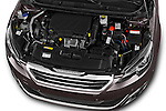 Car Stock 2015 Peugeot 308 Feline 5 Door Hatchback Engine high angle detail view