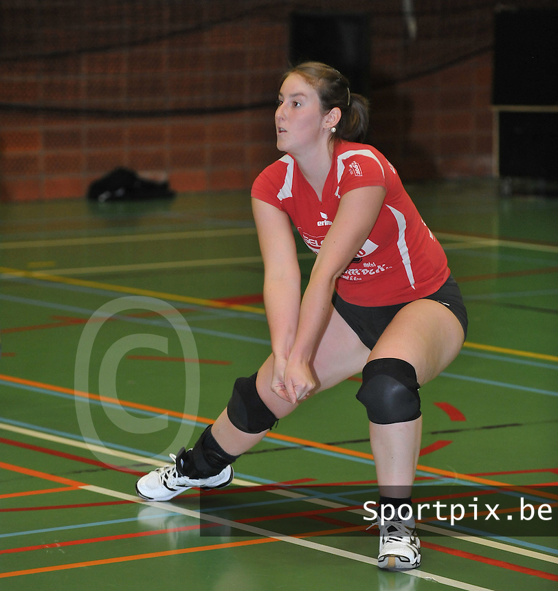 Tievolley Tielt : Stefanie De Smet.foto VDB / BART VANDENBROUCKE