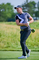 Danny Willett (GBR) watches his tee shot on 12 during Thursday's round 1 of the 117th U.S. Open, at Erin Hills, Erin, Wisconsin. 6/15/2017.<br /> Picture: Golffile | Ken Murray<br /> <br /> <br /> All photo usage must carry mandatory copyright credit (&copy; Golffile | Ken Murray)