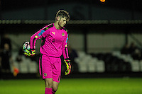 Friday  16 December 2014<br /> Pictured:  Rory Brown of Wolverhampton Wonderers  looks on <br /> Re: Swansea City U18s v Wolverhampton Wonderers U18s, 3rd Round FA youth Cup Match at the Landore Training Facility, Swansea, Wales, UK