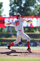 Cole Ragans (19) of the Spokane Indians pitches against the Hillsboro Hops at Ron Tonkin Field on July 23, 2017 in Hillsboro, Oregon. Spokane defeated Hillsboro, 5-3. (Larry Goren/Four Seam Images)