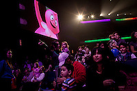 Los Angeles, California, November 27, 2010 - Characters from the television show Yo Gabba Gabba! perform live on stage at the Nokia Theater during their 60-city tour titled, 'There's a Party in My City!'...