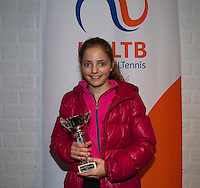 November 30, 2014, Almere, Tennis, Winter Youth Circuit, WJC,  Prizegiving,  Madelief Hageman 6th place<br /> Photo: Henk Koster